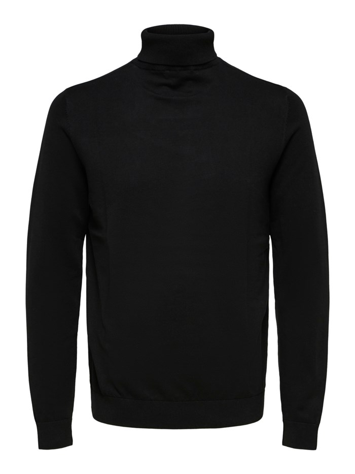 SELECTED Polo neck Black