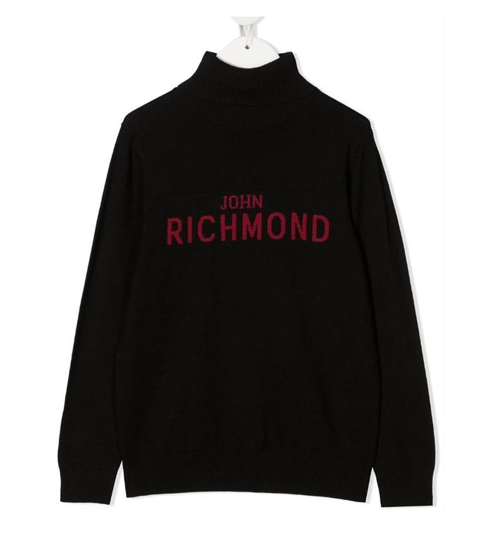John RICHMOND Polo neck Black
