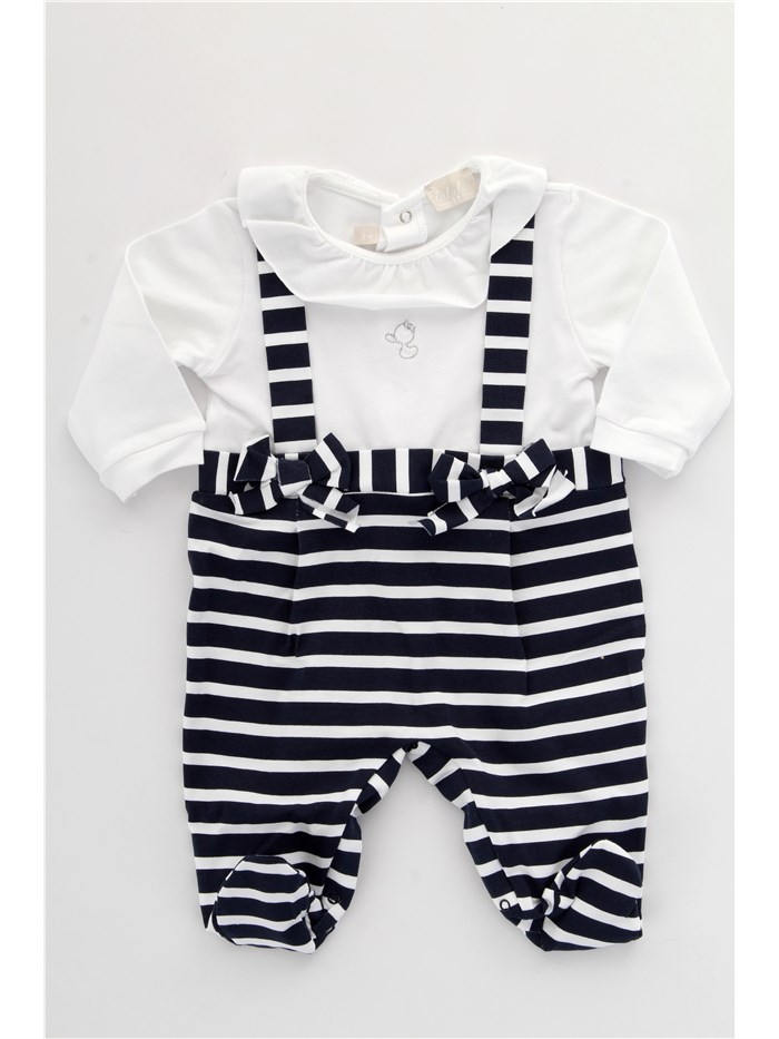 LALALU Overalls Blue / white