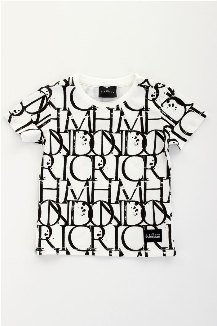 John RICHMOND Short sleeve White black