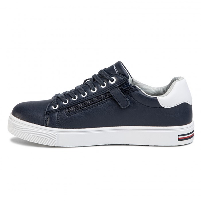 Tommy Hilfiger low Blue / white