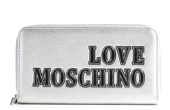MOSCHINO LOVE With zip Silver