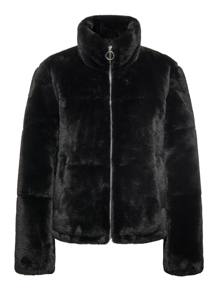 JDY BY ONLY Fur coats Black