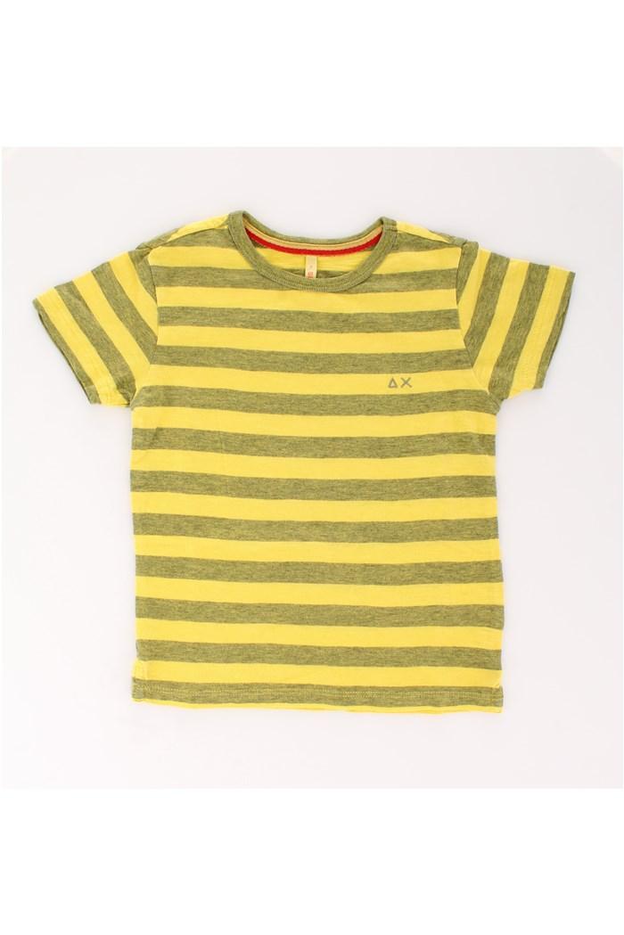 Bambino Rosso Bianco a Strisce Manica Corta T-shirt Cotone Top Costume
