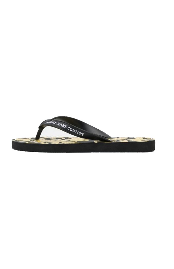 VERSACE Jeans Couture Flops Black / gold