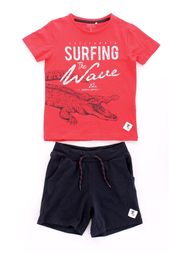iDrawl Set bikini da bambina 4-13 anni con maglietta e pantaloncini estivi e protezione UV