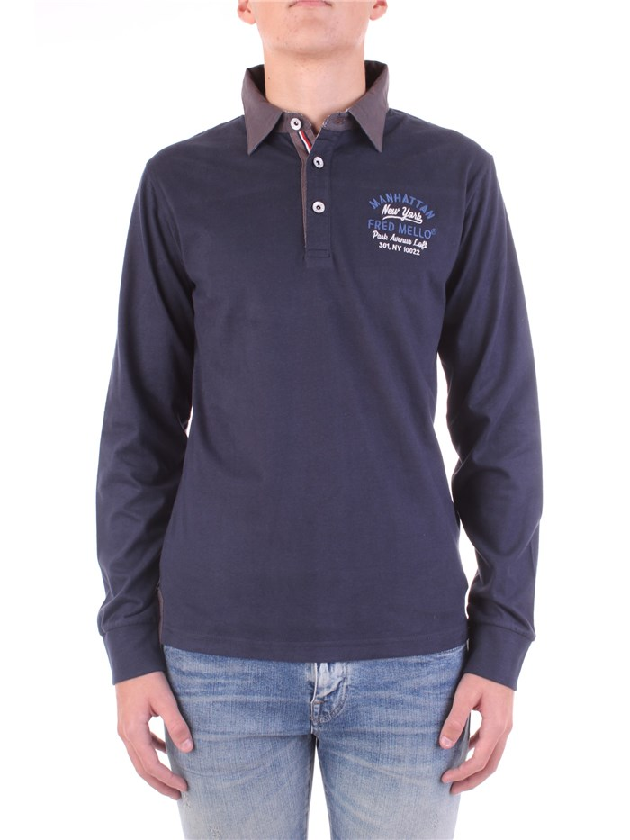 Fred Mello  Long sleeves Blue