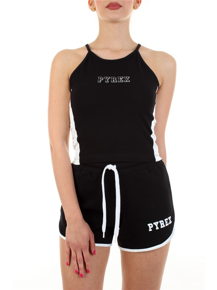 PYREX bare shoulders Black White