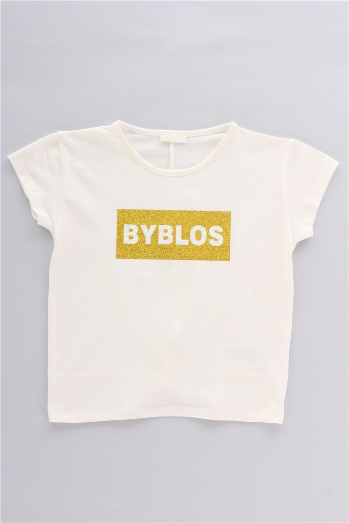 Byblos Short sleeve White / yellow