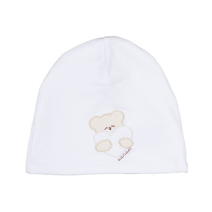 NANAN Accessories Unisex junior Beanie White E20008