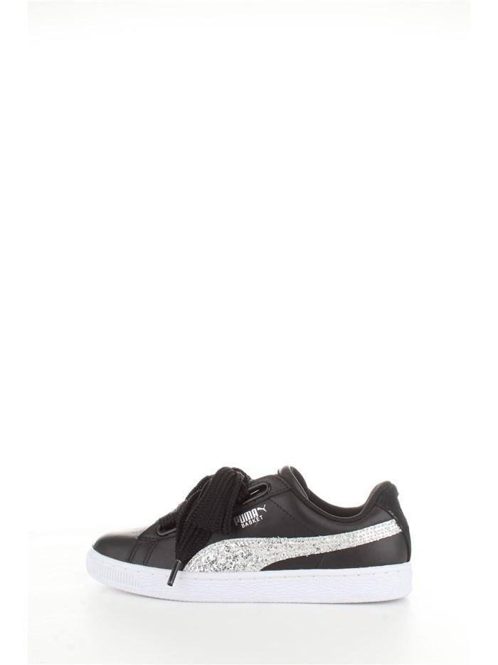 puma donna scarpe argento e nere