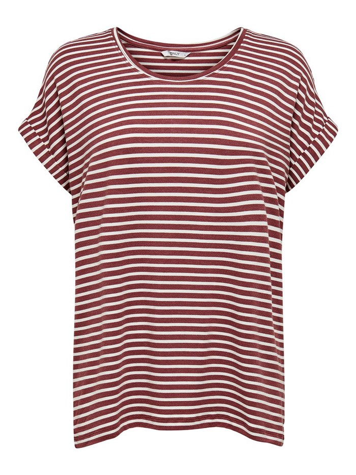 ONLY Short sleeve Bordeaux/panna