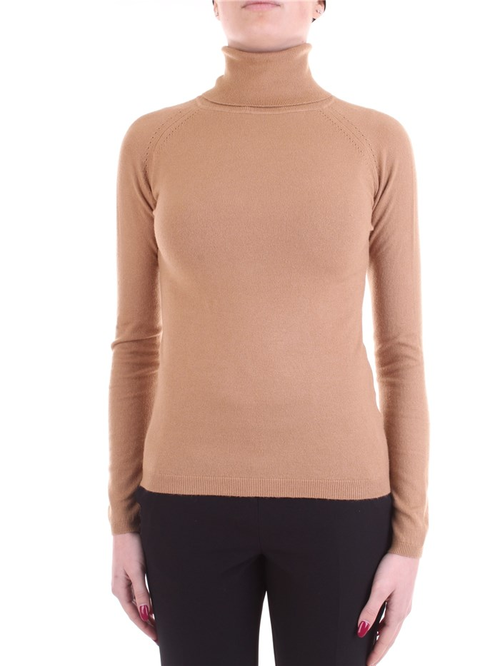 WHITE WISE Polo neck Camel