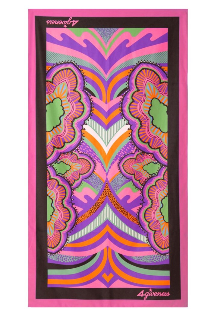 4Giveness Beach towel Viola/nero/rosa