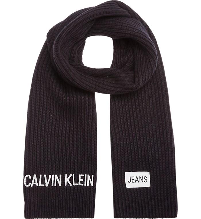 b3fd5a66dba6 Sciarpa Calvin Klein Jeans Unisex junior - Nero - Vendita Sciarpa On ...