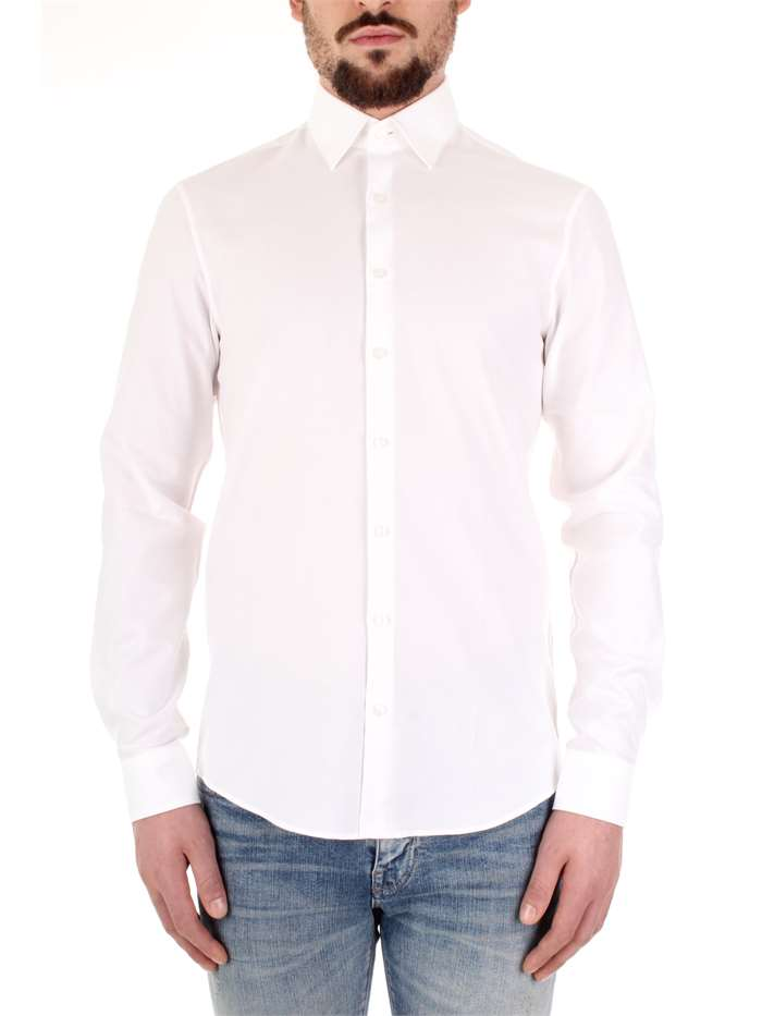 outlet store eeb51 91d92 Calvin Klein Camicia Uomo Bianco   Mxm Fashion