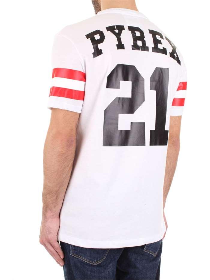 Pyrex T-Shirt Uomo M Bianco 19epc40312 Primavera Estate 2019