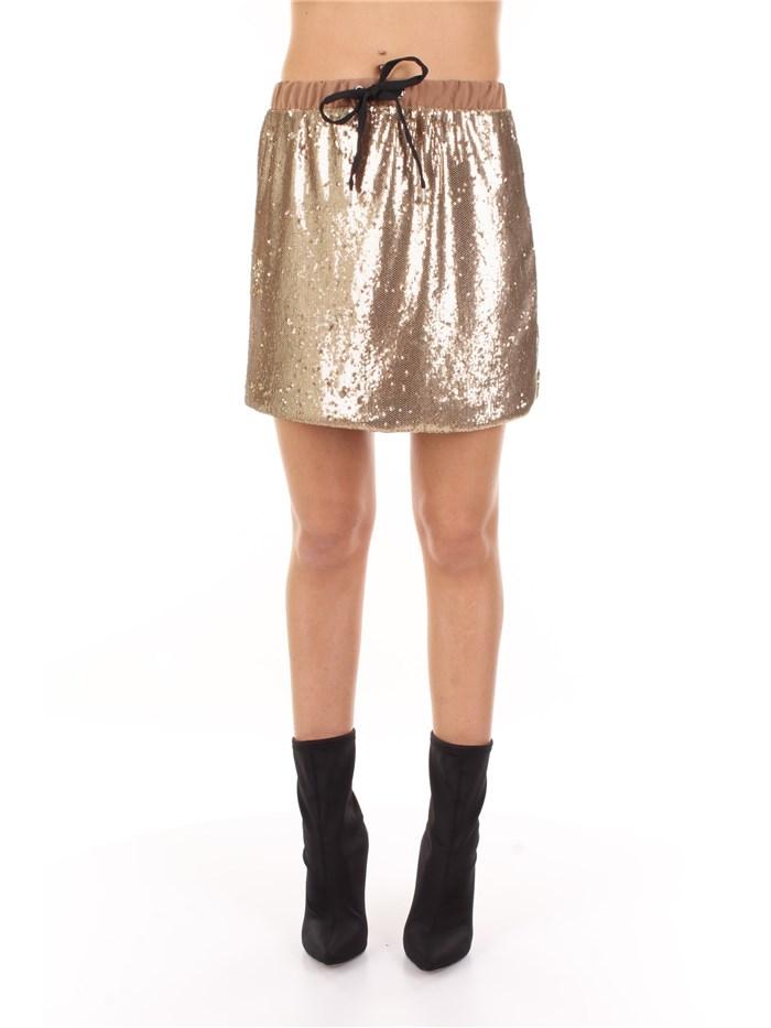 a basso prezzo b25d2 83d2c VICOLO Gonna Donna Oro | Mxm Fashion
